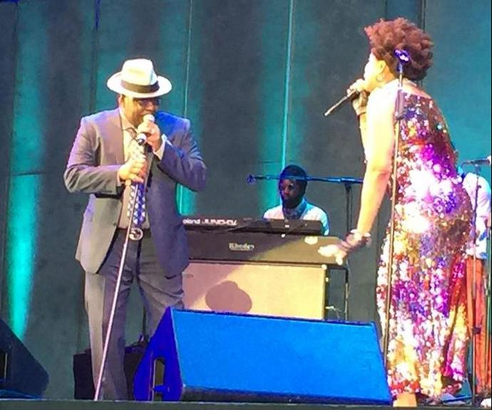 Bobby took to the stage as a surprise guest of his pal Macy Gray