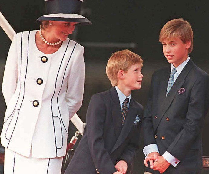 "Under the watchful eye of mum! ""When she was alive, we completely took for granted her unrivaled love of life, laughter, fun and folly. She was our guardian, friend and protector,"" Harry admitted. **WATCH: Charles Spencer's powerful eulogy at Diana's funeral. Gallery continues after the video!**"