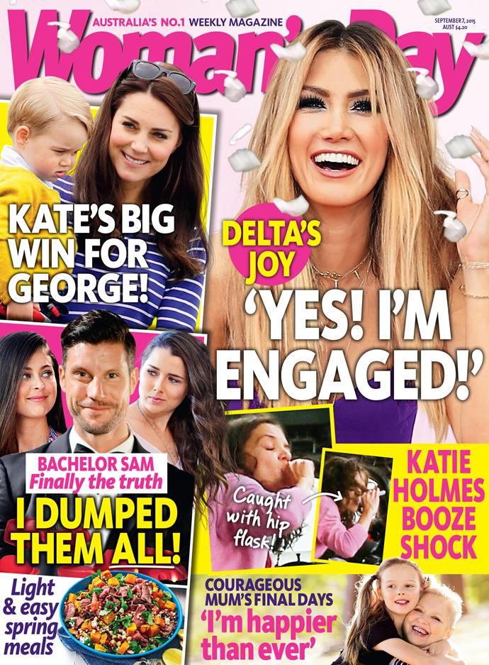 Pick up a copy of this week's *Woman's Day* to read all about the exciting engagement and Delta's wedding plans.