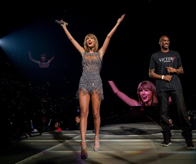 What a slam dunk... Basketballer Kobe Bryant crashed Taylor Swift's concert.