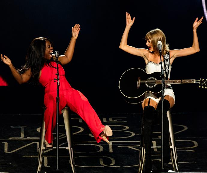 *Orange Is the New Black* Star Uzo Aduba gets crazy with Miss Swift.