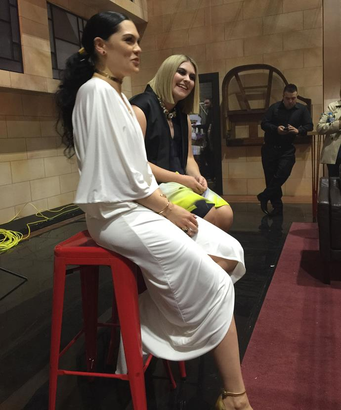 Jessie J and Ellie Drennan got along like sister in our chat!