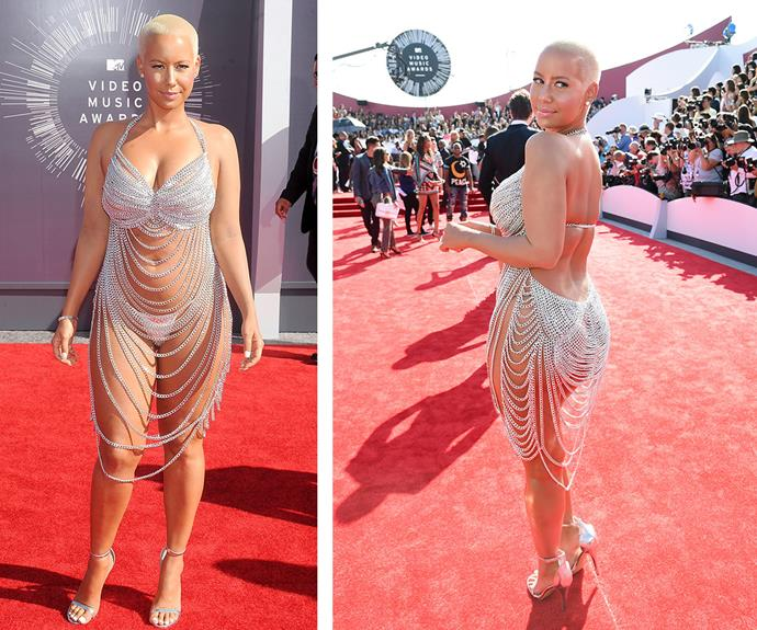 In 2014, Amber Rose tried to mimic Rose's famous frock with little success.