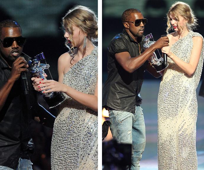 Kanye West has come a long way since that fateful night in 2009 when he hijacked Taylor Swift's acceptance speech, claiming Beyonce was a more worthy winner for the Best Video. The rapper, [who has just announced he hopes to run for the 2020 presidency,](http://www.womansday.com.au/celebrity/hollywood-stars/kanye-west-announces-presidential-bid-at-mtv-vmas-13528) has gone on to confess he was in a dark place at that time and apologised.