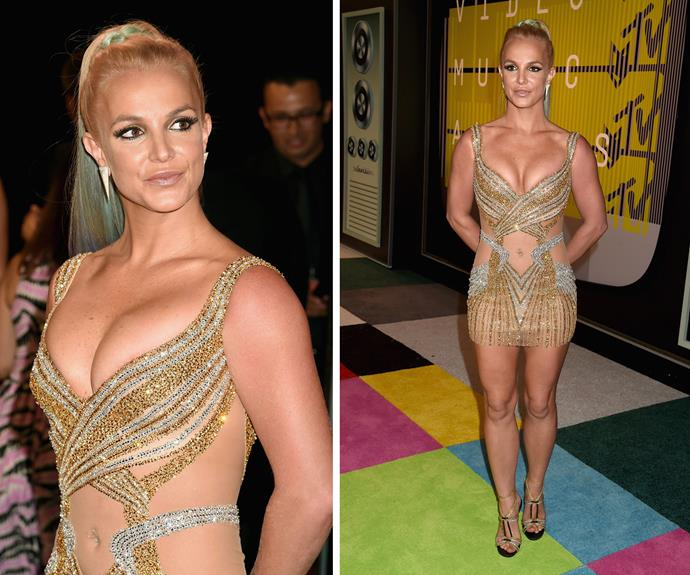 33-year-old Britney Spears is known for wearing very little at the VMA's and why should this year be any different?