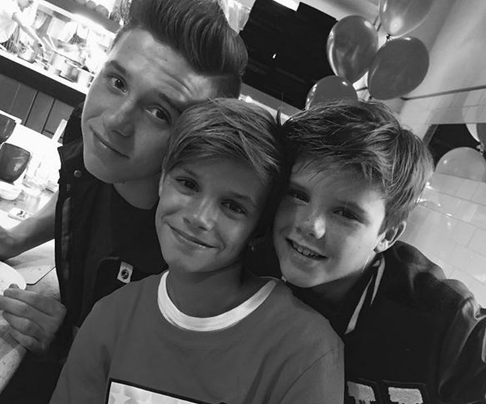 "Posh's Instagram feed was flooded with birthday praise for the middle Beckham boy, Romeo who turned 13! ""Happy 13th birthday Romeo x My babies are getting so big!!!"" She captioned this sweet snap."