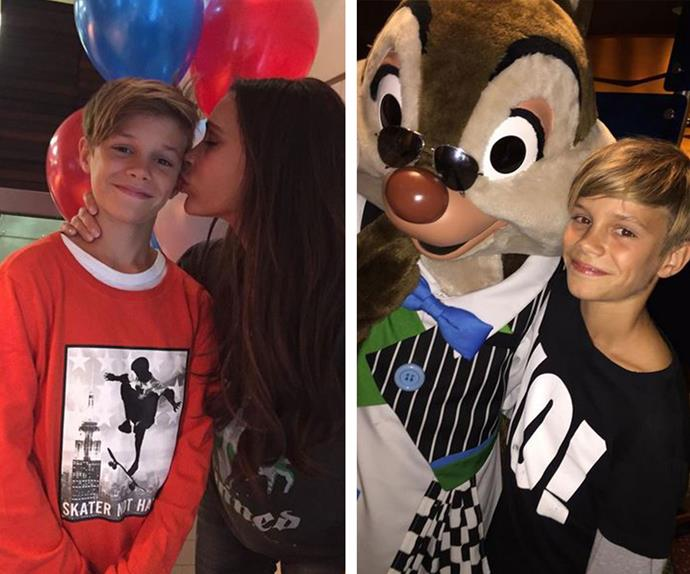 Romeo, Romeo, Romeo! VB had so much birthday love for her 13-year-old (L). The former Spice Girl also shared this gorgeous snap from the family's recent trip to Disney Land.