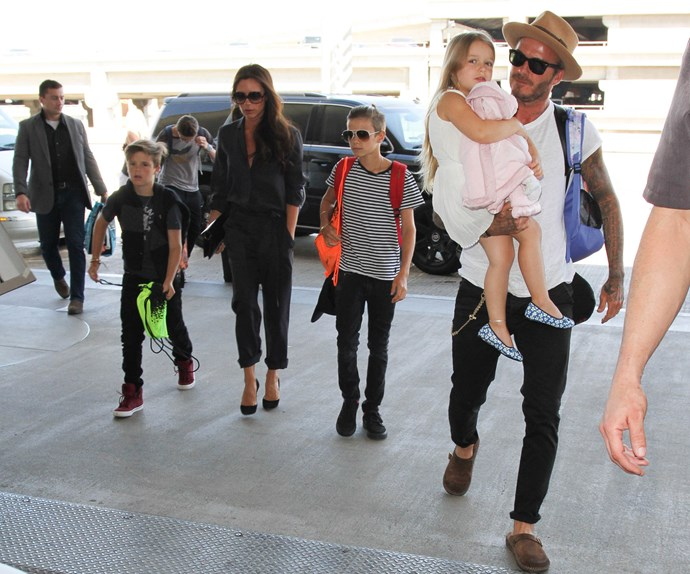 Summer is over. The Beckham brood wrapped up their stint in LA and headed back to the UK on Monday.