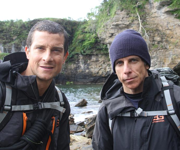 "*Ben Stiller* got in touch with the simple things in life during his time with Bear in Scotland. ""It was very beautiful – until we started filming. For about half a day it was sunny and then they turned on the cameras and the rain came down,"" he recalled."