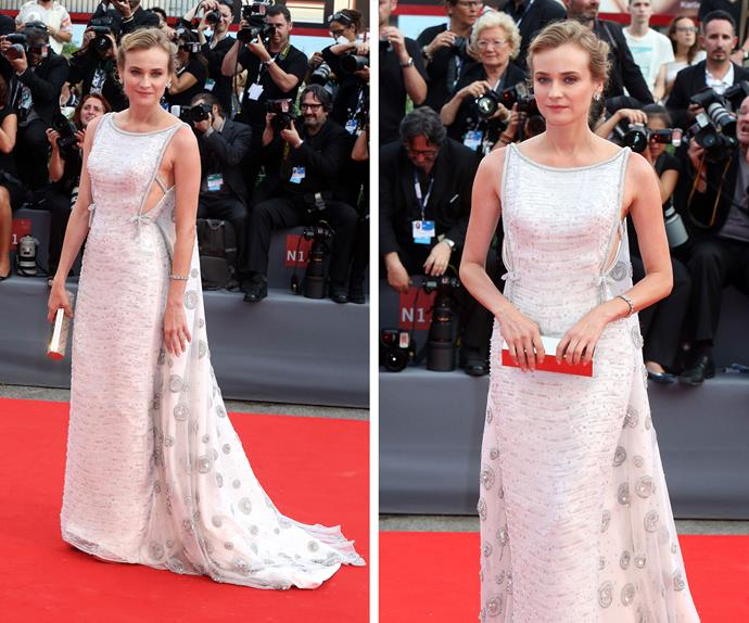 Diane Kruger was pretty in Prada at the opening of the Venice of Film Festival.