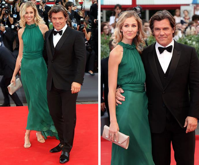 Josh Brolin and his fiancé Kathryn Boyd made for a perfect Hollywood glamour couple at the opening event.