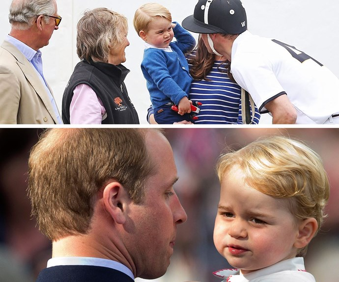 "The adorable tyke might be the future King but understanding that dad is boss can be difficult. ""He's got a good pair of lungs on him, that's for sure,"" William revealed shortly after his birth."