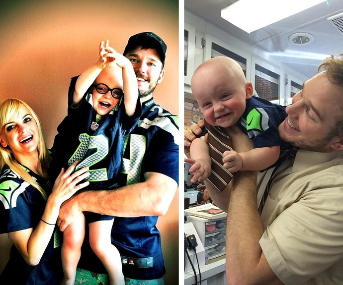 Seriously, these guys are wickedly cute together. We bet Anna Faris just loves spending time with her boys.