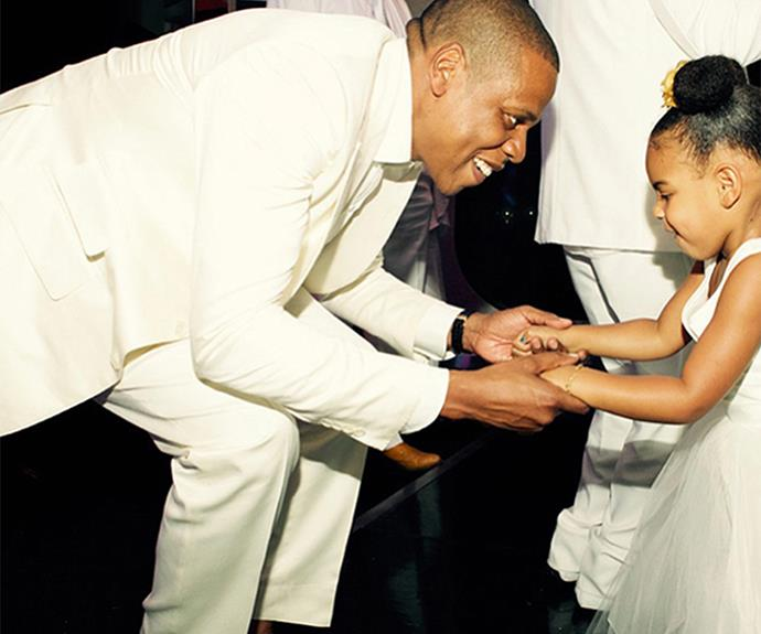 "Jay Z simply cherishes his mini-me gal, Blue Ivy. During a radio interview he candidly confessed: ""[Fatherhood] has changed me in a way that. Just knowing what's important... but I had a pretty good sense of that. It just reaffirmed all things that I believed I knew."""