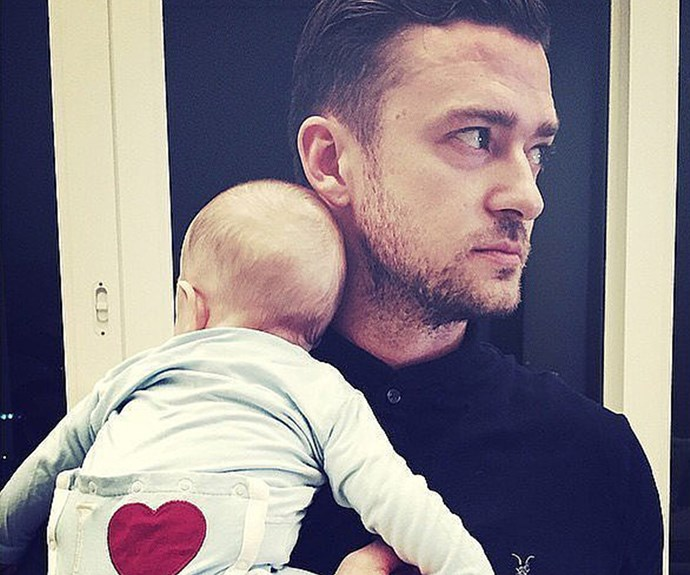 Justin Timberlake with his sweet first-born, Silas.