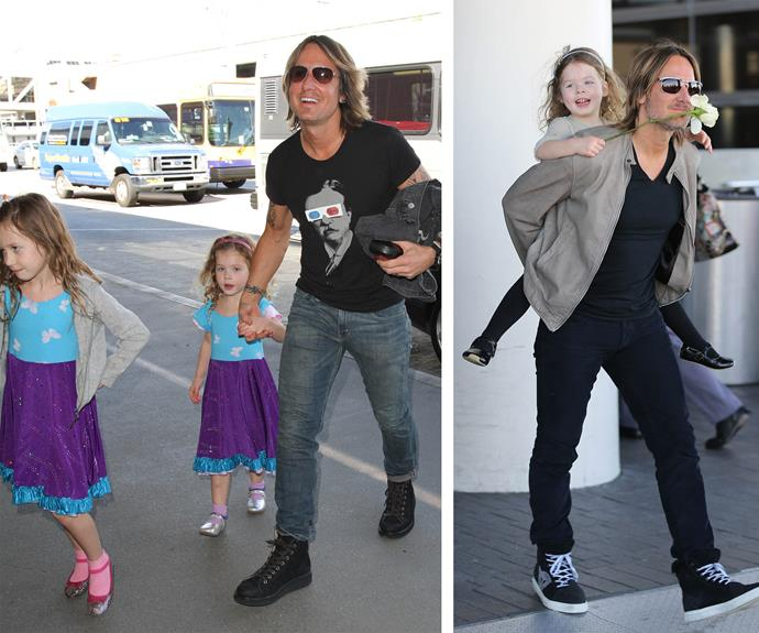 "Country crooner Keith Urban is papa bear to Sunday Rose and Faith Margaret. Nicole Kidman's hubby has described parenthood as ""pure bliss!"""