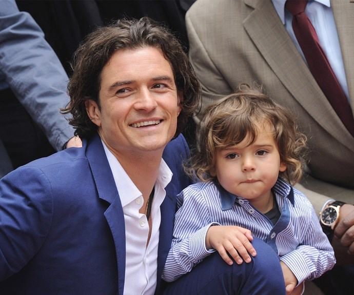 "Orlando Bloom is the doting dad to sweet Flynn. [How much do they look-alike?](http://www.womansday.com.au/celebrity/hollywood-stars/celeb-mini-mes-hollywoods-most-uncanny-look-alikes-12681|target=""_blank"")"