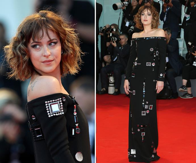 Flawless... Dakota Johnson looked like a total knockout at the premiere of  her latest film, *A Bigger Splash* in Venice.