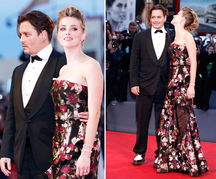 Johnny Depp and Amber Heard made a few appearance at the Venice Film Festival, putting on a very amorous display for the cameras. This is the first time the couple have been seen together in almost five months.