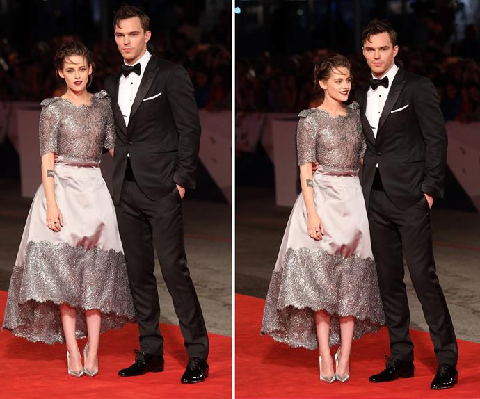 Nicholas Holt and Kristen Stewart stunned on the red carpet at the premiere of their latest flick *Equals*.