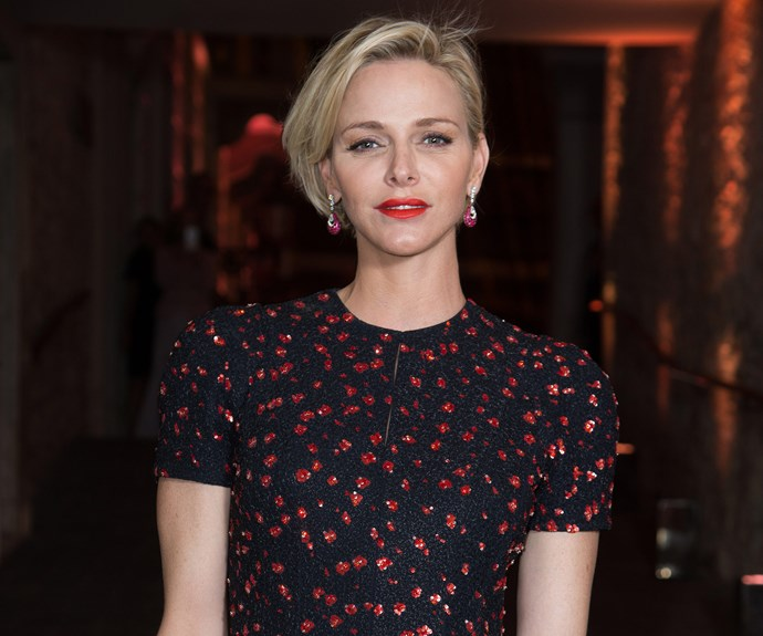 Princess Charlene dazzled in Dior as she and her husband, Prince Albert, honoured acting icon Robert Redford at a Monaco gala.
