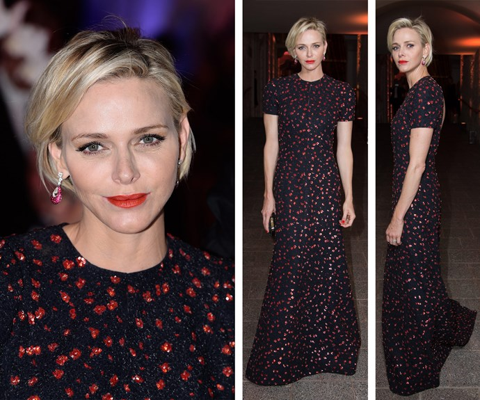 While Dior sponsored the awards, it was Princess Charlene's stunning outfit by the French luxury label that was the night's show stopper.