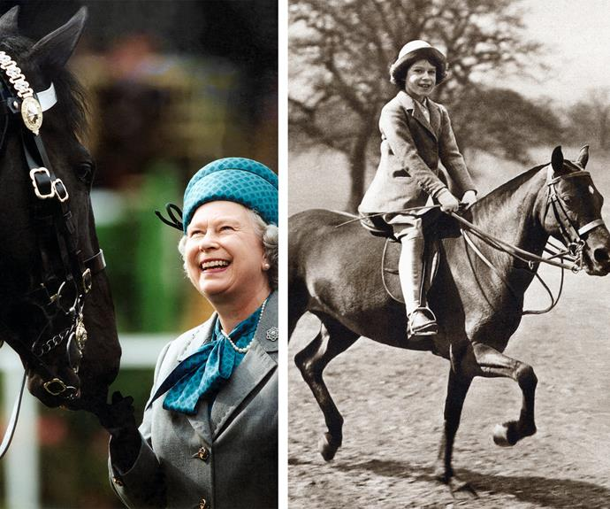 We all know [Queen Elizabeth adores her corgis](http://www.womansday.com.au/royals/british-royal-family/royal-pets-the-posh-pooches-that-keep-this-regal-family-company-12711) but she also has a deep love for horses. Riding since she was a little girl, Her Majesty has won much praise for her skills. Shots were fired during the 1981 Trooping of Colour ceremony but the Queen, who was at close range, managed to keep the horse completely calm.