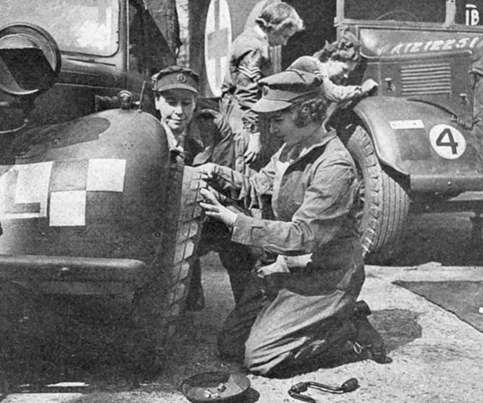Despite her illustrious royal future, the young Princess always strived to serve. During World War II she joined the Women's Auxiliary Territorial Service in 1945. Not afraid to get her hands dirty, Elizabeth trained as a mechanic and driver.