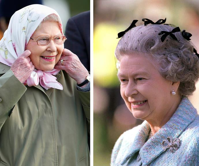But the Queen doesn't need a tiara to look good!