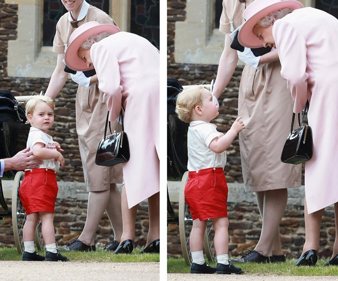 "Future King of England, Prince George, gets some tips from [his beloved ""Nanny!""](http://www.womansday.com.au/royals/british-royal-family/what-prince-george-calls-the-queen-13056)"
