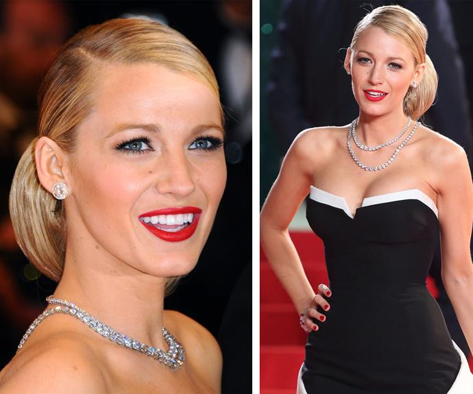 We adore Blake Lively's interpretation of the classic bun and bringing it down a notch, literally. The low chignon is still sleek and stunning. Don't be afraid to secure it in with lashing of hairspray.