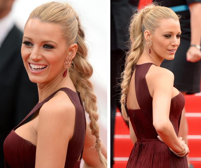 Ponytail plaits are hot... Blake livens up her mane with this awesome chunky number.
