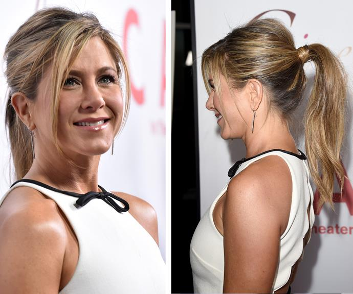 Mess it up! [Jennifer Aniston is the queen of flawless hair](http://www.womansday.com.au/style-beauty/beauty/jennifer-anistons-incredible-hair-evolution-8004) and for good reason. She totally knows how evolve the ponytail.
