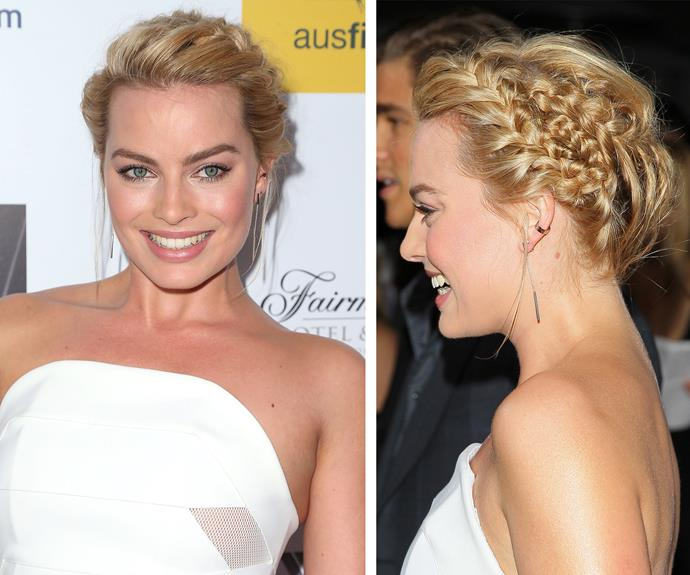 Margot Robbie waves the flag for milkmaid braids.