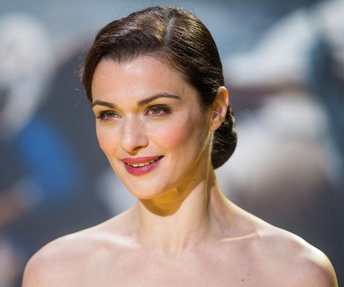 Rachel Weisz blossoms with this pulled back bun.