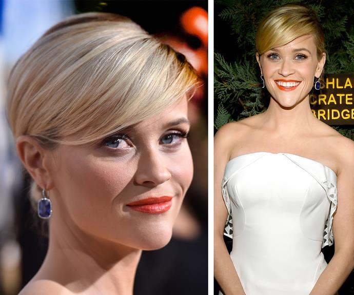 Understated and pure sophistication. Reese delighted us at the *Wild* premiere with her timeless 'do.