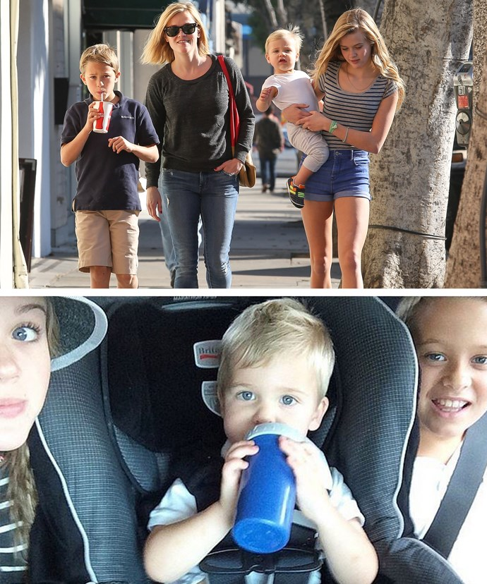 Reese and her three kids.