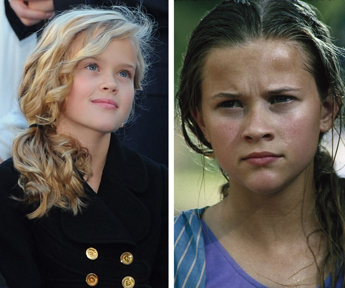 Ava(Right) is a spitting image of her mum Reese(Left).