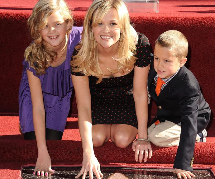 Reese with Ava and Deacon.