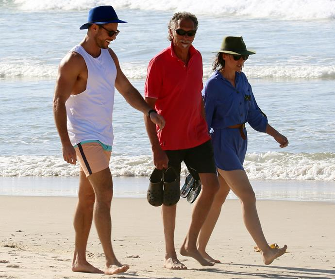 Sam took a well-earned breather and headed up to NSW Coastal Town with his sister Hannah and father Andrew.
