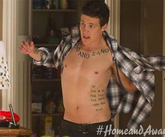 Steve Peacocke as Brax on Home and Away