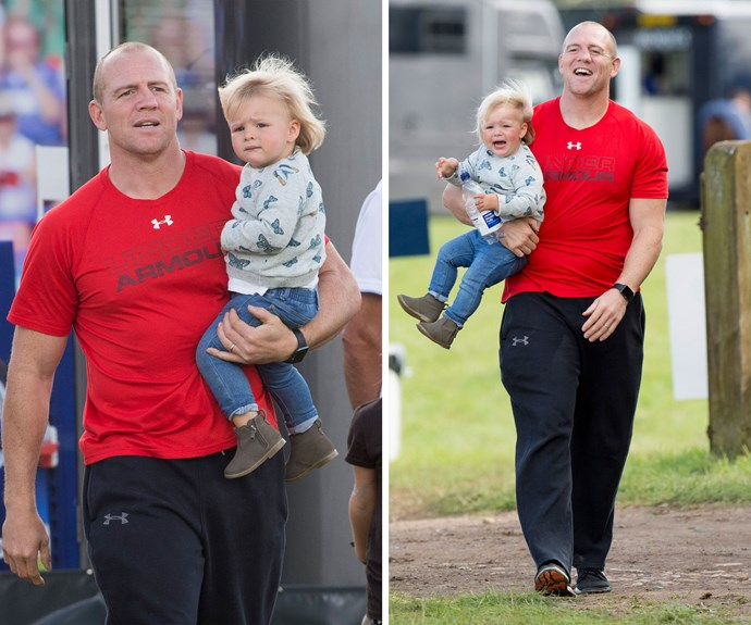 """""""You've got to be a hands-on dad nowadays,"""" doting dad Mike revealed to the *Times*."""