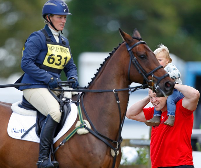 """The ex-rugby player chatted to the *Times* to explain Zara's hectic training schedule means he has to be a very involved dad, """"Zara spends a lot of time with the horses, so I don't have much choice in that sense."""""""