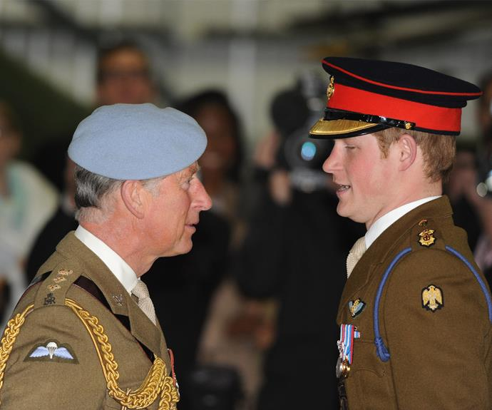 "While serving in Afghanistan in 2012-13, Harry revealed that his father, Prince Charles, was worried for his safety. ""My father's always trying to remind me about who I am and stuff like that."""