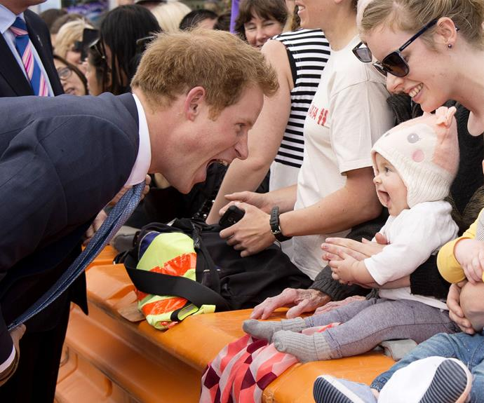 Prince Harry may be ex-military but he's also exceptionally skilled at making children adore him.