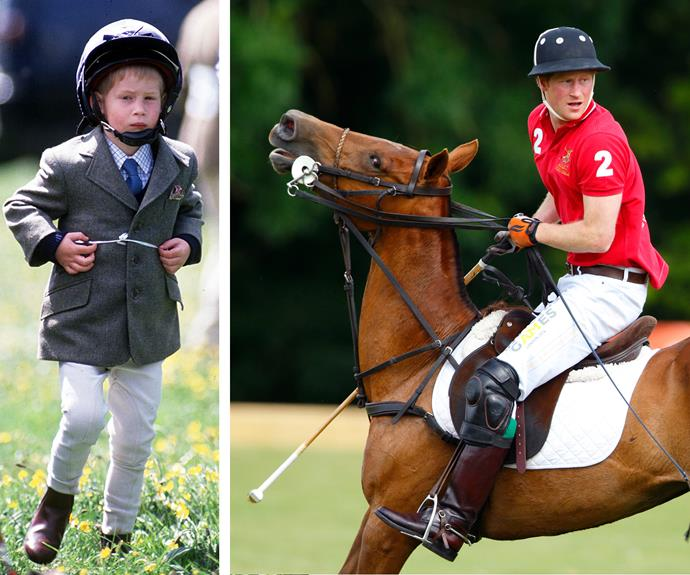 Harry might be a wildlife warrior, but he's also a skilled polo player.