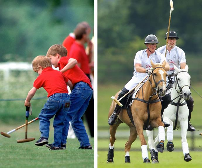 He is also fiercely competitive with his older brother, Prince William.