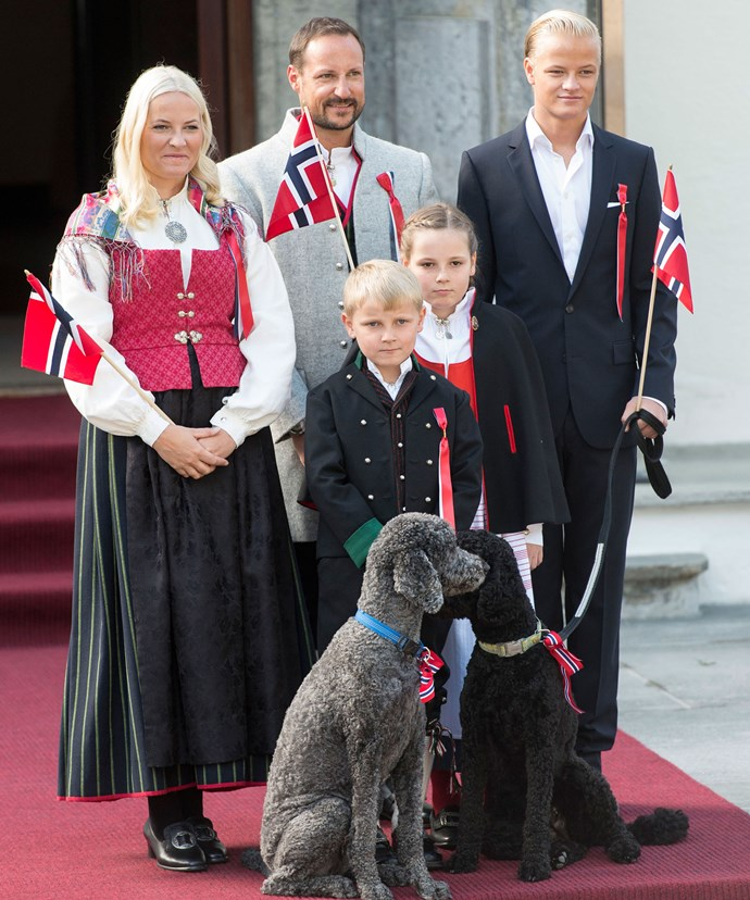 Prince Haakon of Norway, Crown Princess Mette-Marit and their two kids, Princess Ingrid Alexandra and Prince Sverre Magnus were at the event without Marius Borg Høiby the Princess' son from a previous relationship.