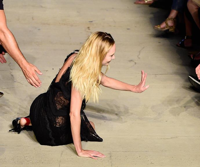 Victoria's Secret stunner Candice Swanepoel shows us even angels fall from the heavens!