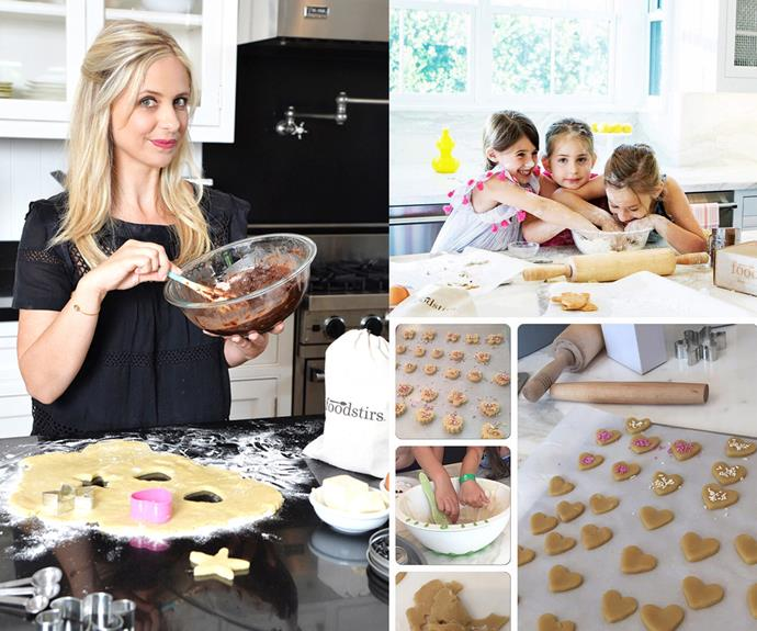 The mum-of-two is very excited to launch her new cooking and lifestyle brand. Her daughter, Charlotte loves to bake with her mum and friends.